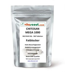 500 Tabletten CHITOSAN MEGA 1000! - SB*: Fatblocker Diät Carb Blocker Low Fat